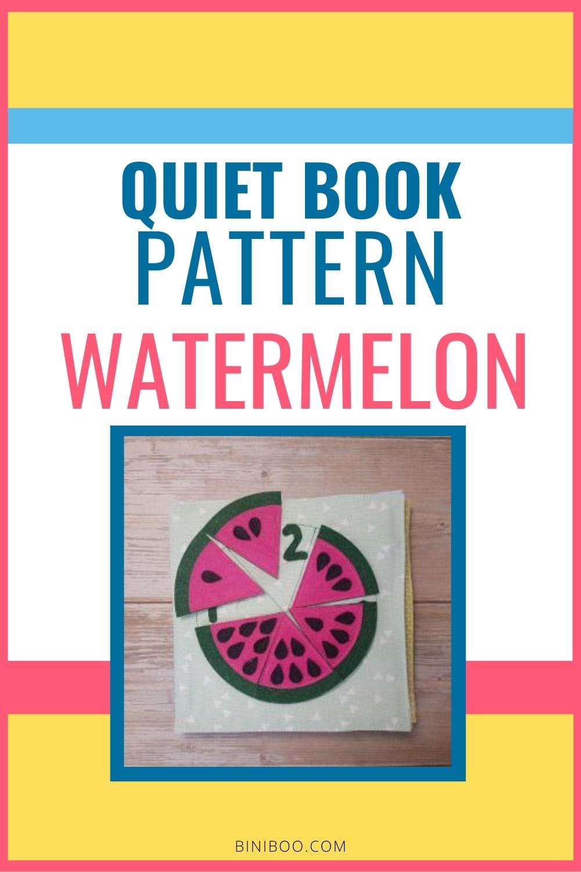 Quiet Book Activity Watermelon