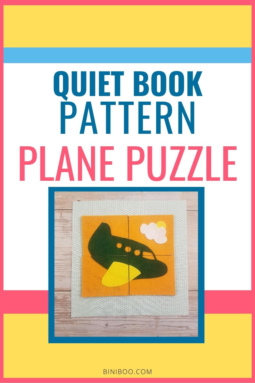 quiet book page plane puzzle