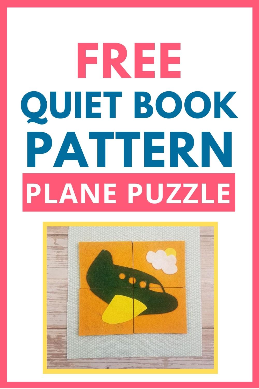 quiet book pattern plane puzzle