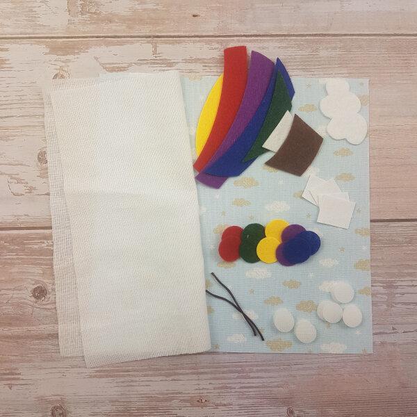 sewing quiet book kit hot air balloon