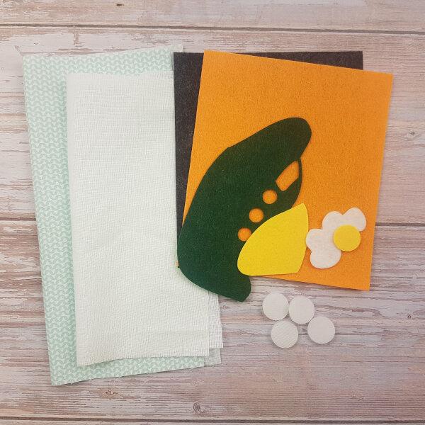 sewing quiet book kit plane puzzle