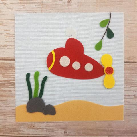 quiet book pattern submarine