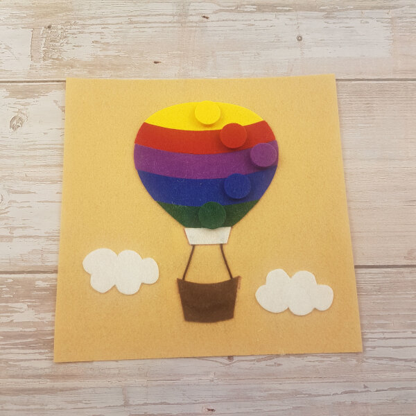 no sew quiet book hot air balloon page