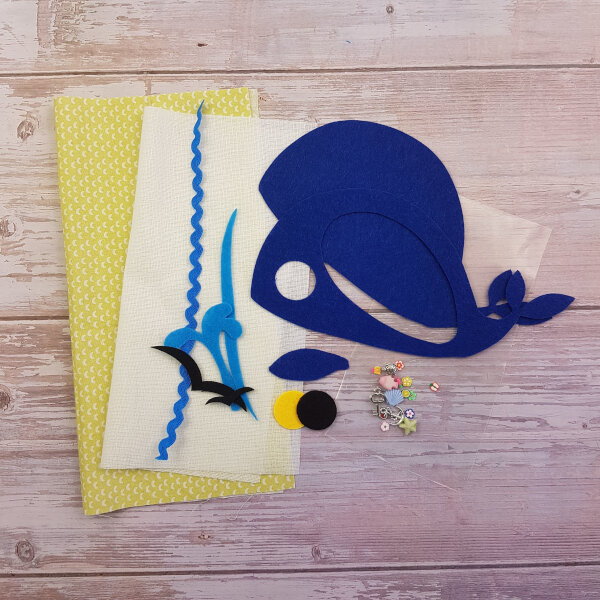 DIY quiet book kit whale i spy
