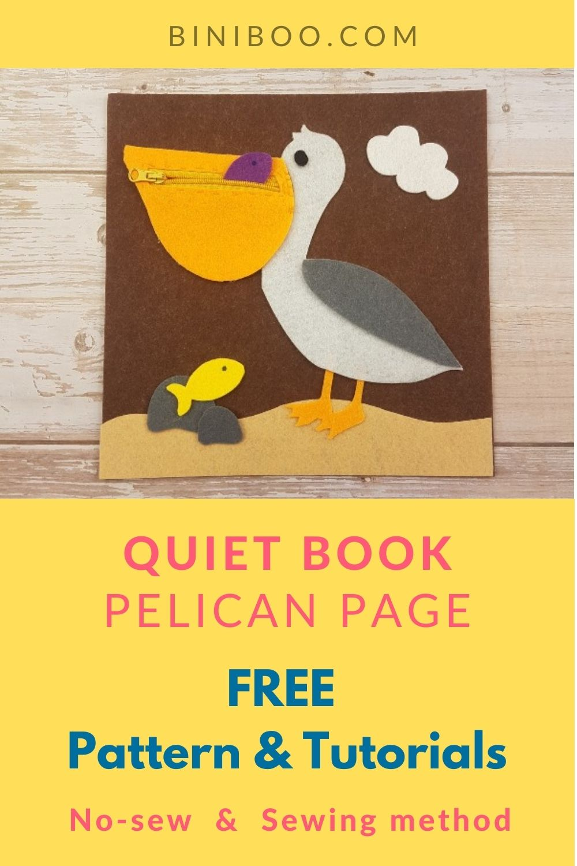 pelican quiet book pattern