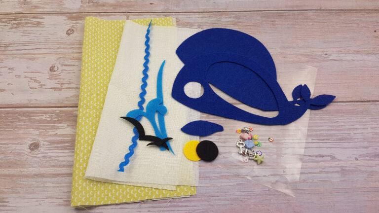 DIY quiet book kit materials whale i spy