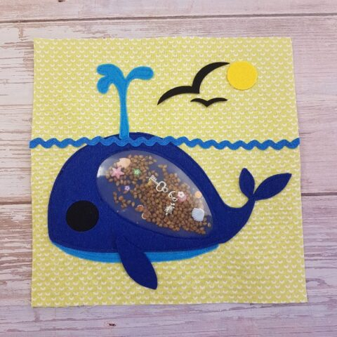whale quiet book pattern