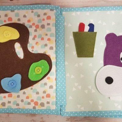 bias quiet book binding sewing