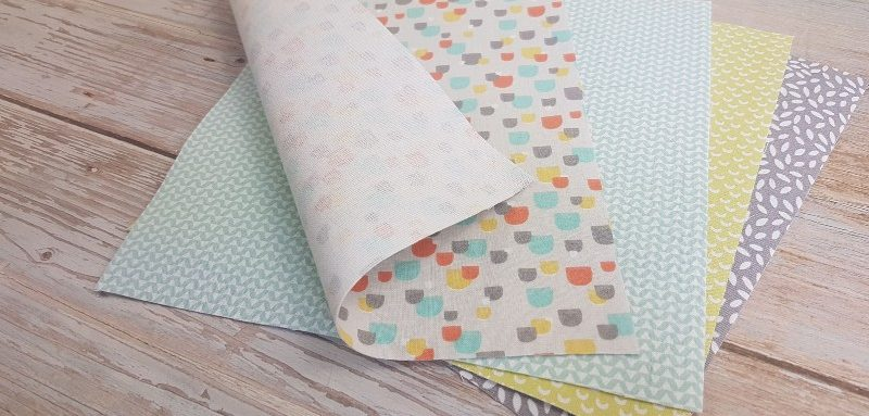prepared fabric pages with no hemming