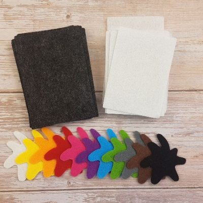 Felt Color Flashcards Materials
