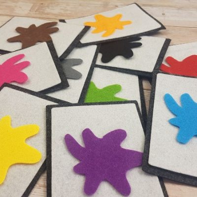 Felt Color Flashcards