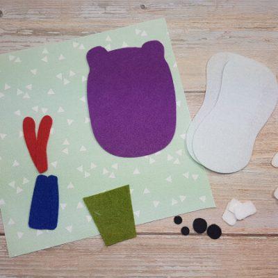 Quiet Book Hippo Teeth Materials