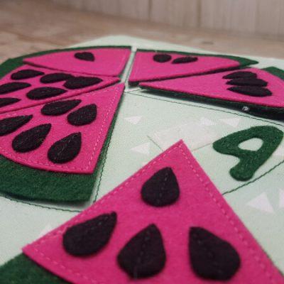 Quiet Book PAttern Watermelon