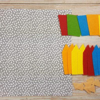 Quiet Book Pattern Color Pencils Materials