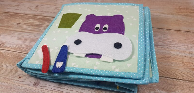 Quiet book pattern Hippo Teeth Activiy Page