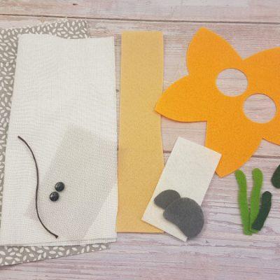 quiet book starfish materials