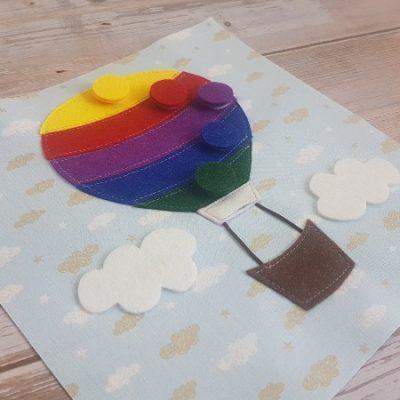 quiet book hot air balloon