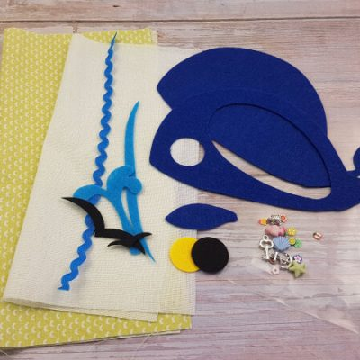DIY quiet book kit materials whale i spy