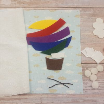 quiet book hot air balloon materials